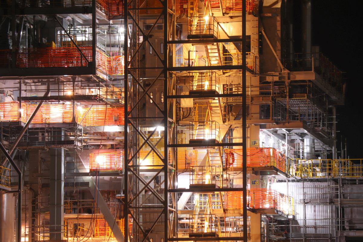 鹿児島の工場夜景